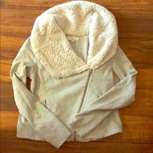 Side zip sweater jacket